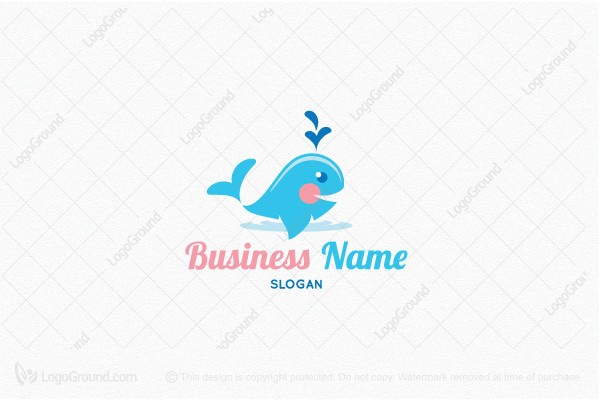 Logo for sale: Baby Whale Logo