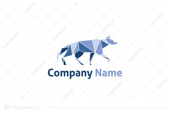 Logo for sale: Geometric Wolf - Dog Logo