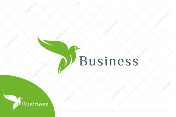 Logo for sale: Green Eco Bird Logo