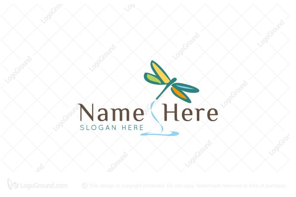 Logo for sale: Colorful Dragonfly Logo