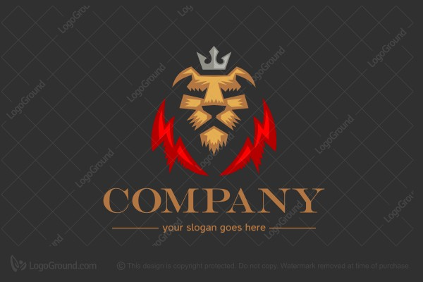 Logo For Sale Lion Crown