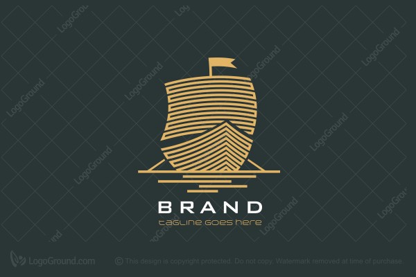 Logo for sale: Ancient Ship Logo