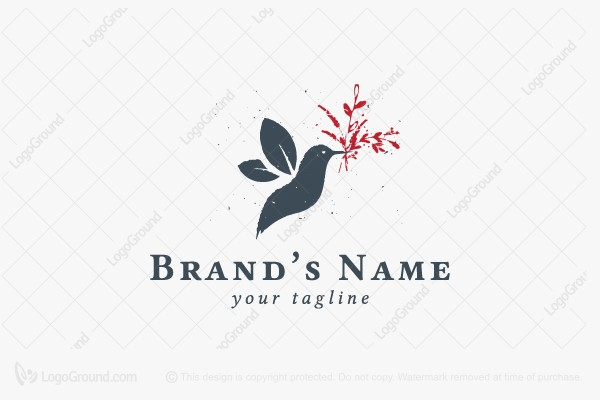 Logo for sale: Hummingbird Organic Logo