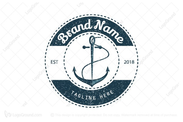 Logo for sale: Anchor Needle Logo