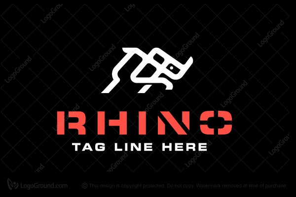 Logo for sale: Rhino Logo