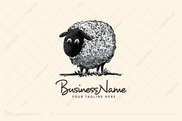 Logo for sale: Whooly Sheep Logo