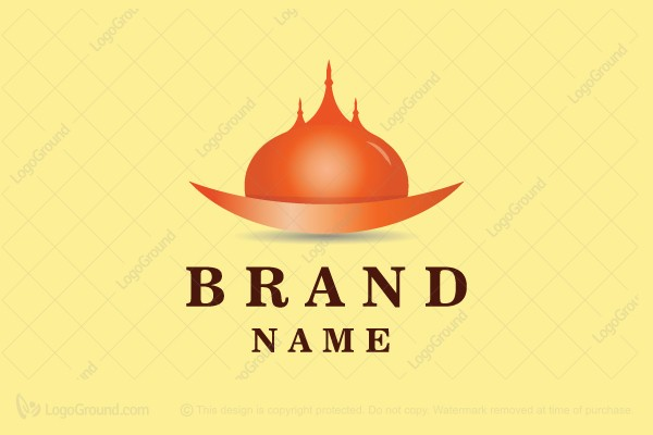 Logo for sale: Indian Restaurant Food Cloche Logo