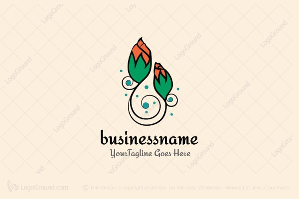 Logo for sale: Magical Flowers Logo