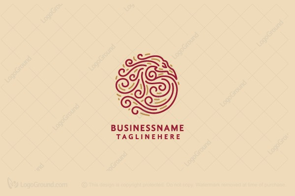 Logo for sale: Dragon Swirls Logo