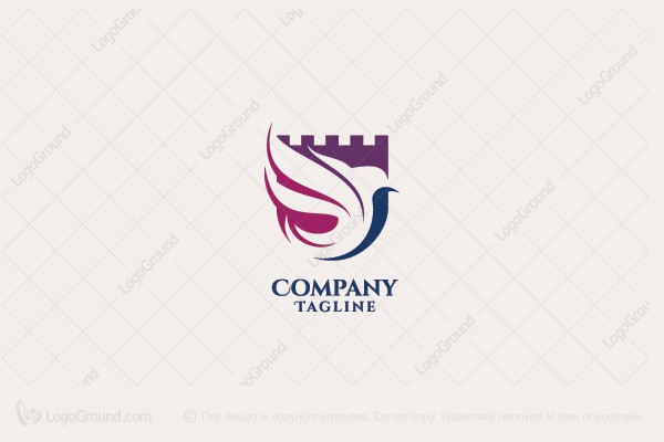 Logo for sale: Castle Bird Logo