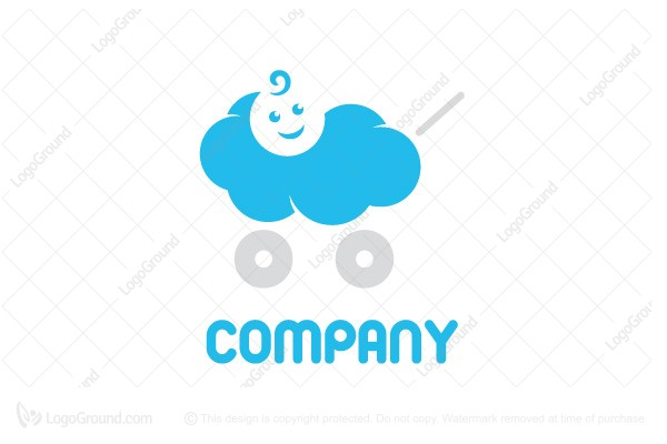 Logo for sale: Cloud Baby Logo
