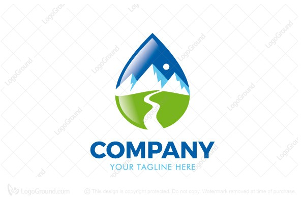 Logo for sale: Nature Drop Logo