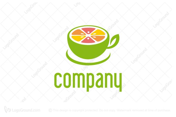 Logo for sale: Fresh Cup Fruit Logo