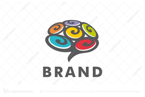 Logo for sale: Brain Swirls Logo
