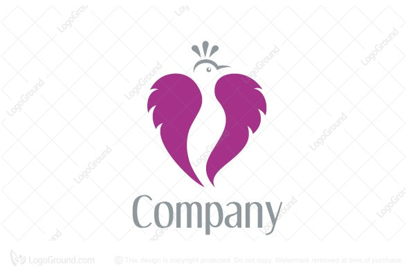 Logo for sale: Heart Bird Logo
