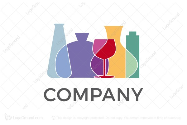 Logo for sale: Colorful Glass Logo