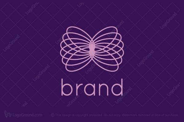 Logo for sale: Line Butterfly Logo