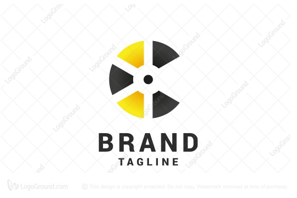 624f2024f Logo for sale  Nuclear Letter C Logo