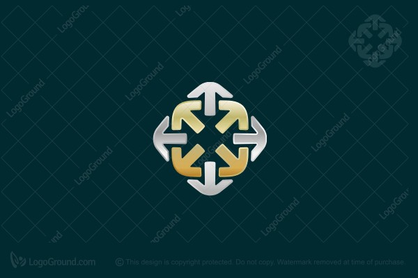 Logo for sale: Abstract Arrows Logo
