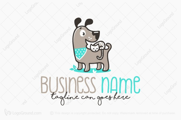 Logo for sale: Adorable Pet Characters Logo