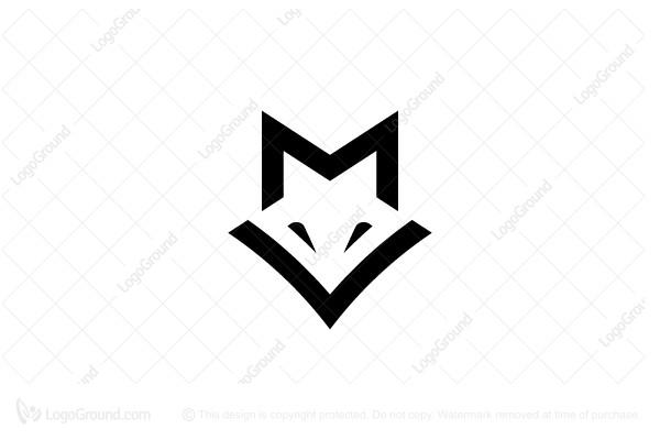 Letter Mv Fox Logo