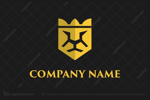 Logo For Sale Shield Lion Crown