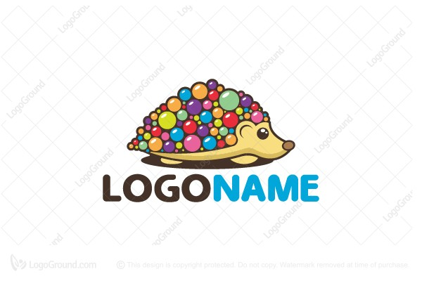 Logo for sale: Hedgehog Candy Logo