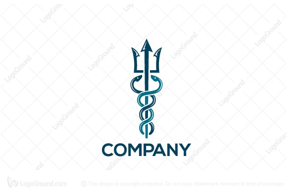 Logo for sale: Medical Trident Logo