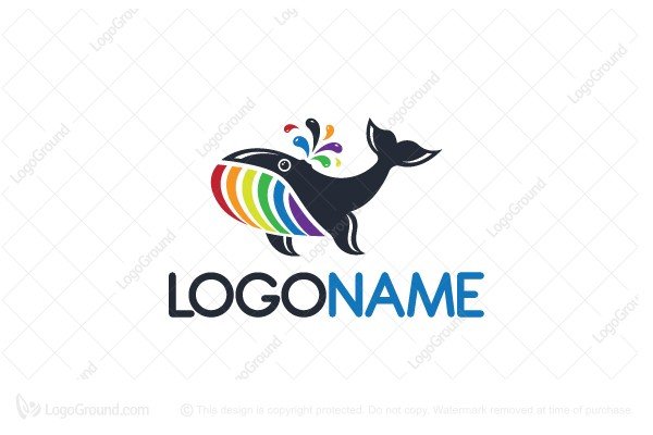 Logo for sale: Color Whale Logo