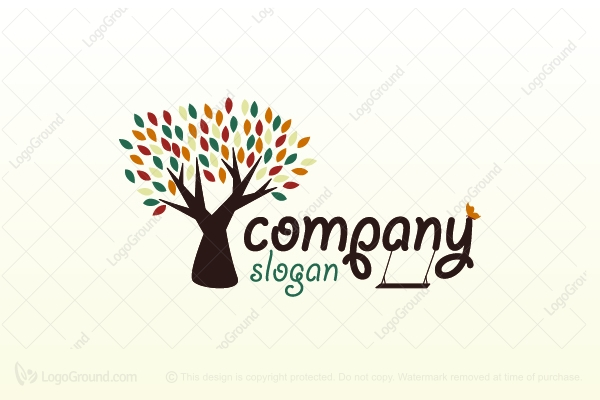 Logo For Sale Special Vintage Tree