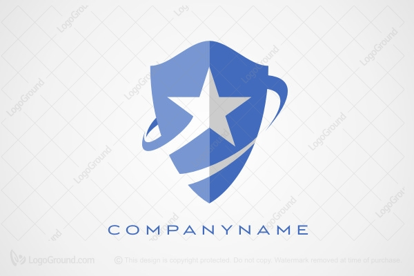 Logo for sale: Shield and Star Logo