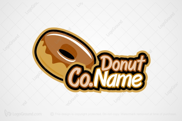 Logo for sale: Donut Logo  Logo
