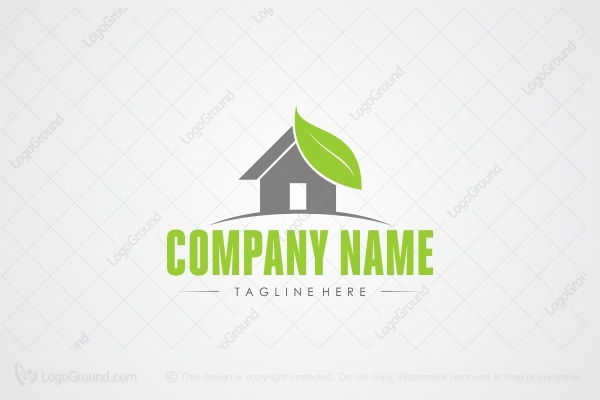 Logo For Sale: Eco House Logo Design Logo