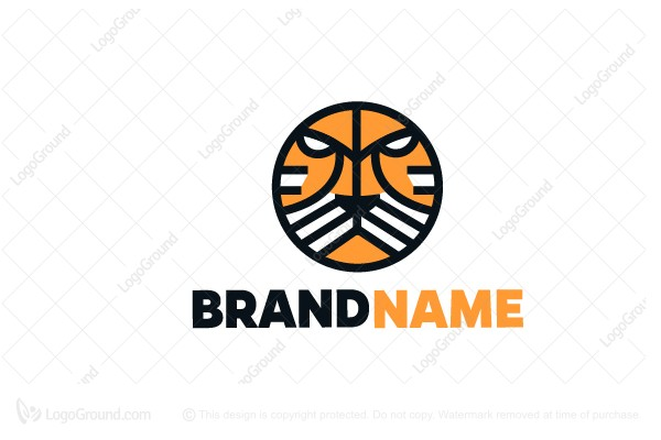 Logo for sale: Tiger Emblem Logo