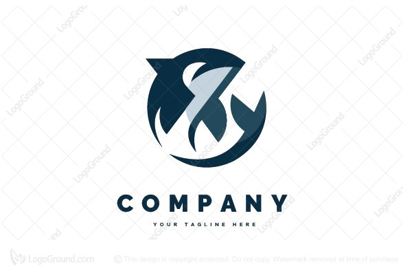 Logo for sale: Shark Round Logo