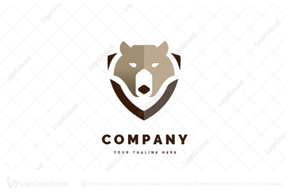 Logo for sale: Bear Shield Logo