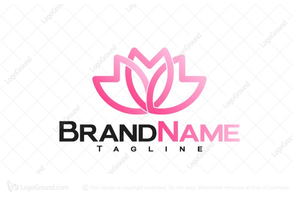 Logo for sale: Sakura Petal Logo