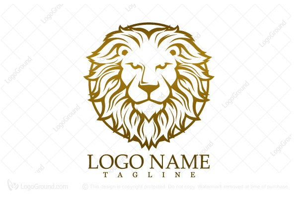 Logo for sale: Golden Lion Head Logo