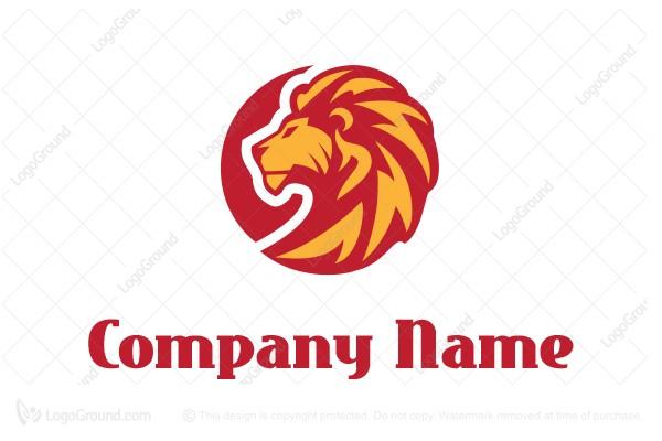 lion on fire logo