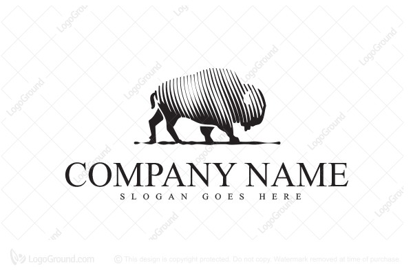 Logo for sale: Bison Lines Logo