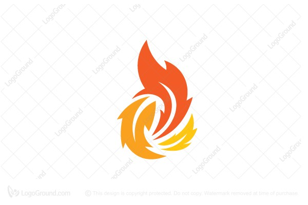 Exclusive Logo 117597, Leaf Fire Logo