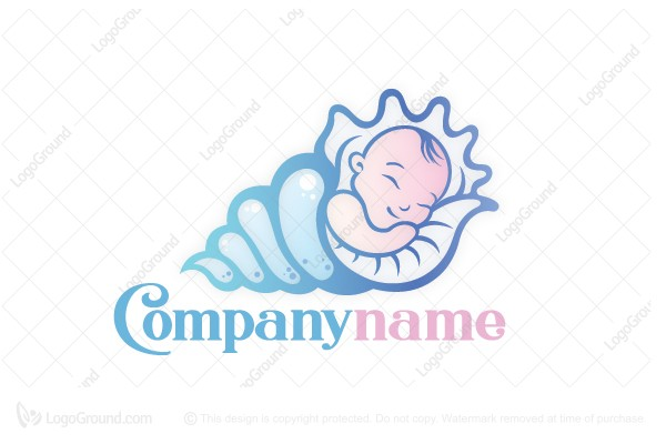 Logo for sale: Baby In A Shell Logo