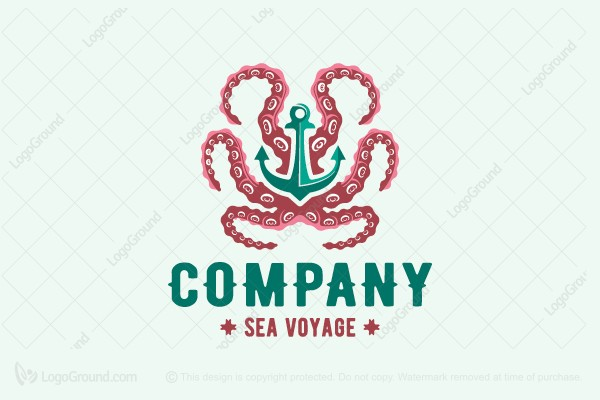 Logo for sale: Beautiful Octopus Logo