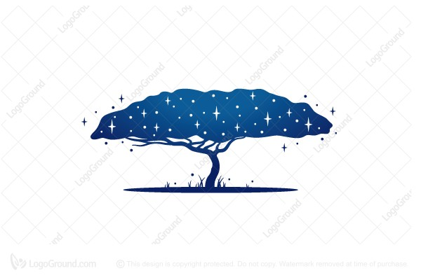 Logo for sale: The tree of the firmament logo