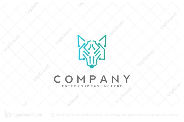 Logo for sale: Cyberwolf Logo