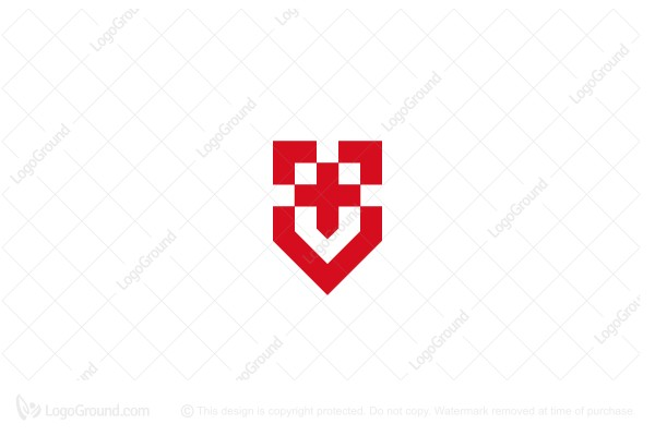 Logo for sale: Unique Red Medical Logo