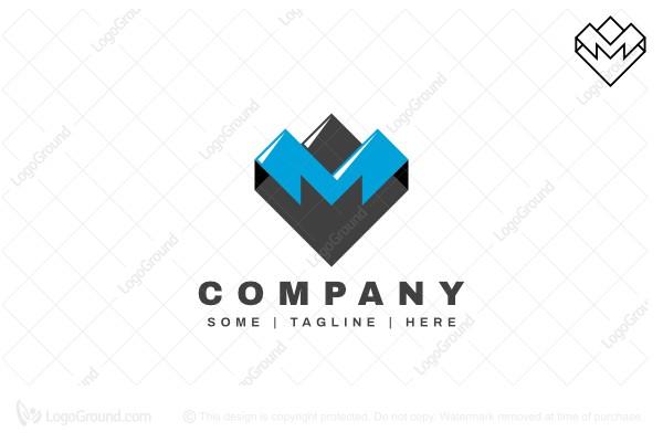 Exclusive Logo 115708, Letter M Mountain Logo