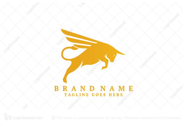 Logo for sale: Flying Winged Bull Logo