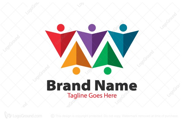 Logo for sale: Crowd People Logo