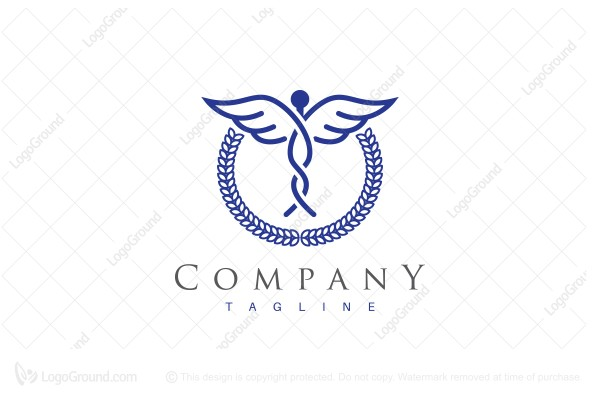 Logo for sale: Modern Caduceus Logo